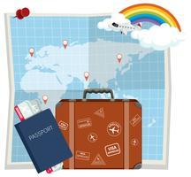 Reiselement op de kaart