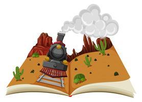 Een pop-upboek-woestijnscène