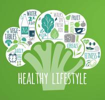 Vectorillustratie van gezonde levensstijl.