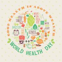 Wereldgezondheidsdag vectorillustratie.
