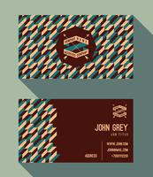 Sjabloon voor visitekaartjes, vintage retro achtergrond met geometrische vector