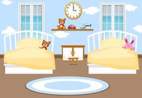Interieur kinderen slaapkamer achtergrond vector