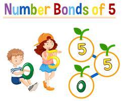 Nummer obligaties van vijf