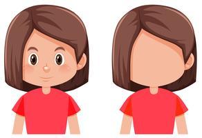 Bob haar meisje karakter vector