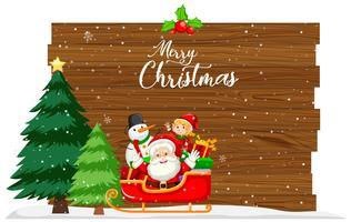 Vrolijk kerstfeest kaart concept