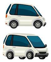 Elektrische auto op witte achtergrond