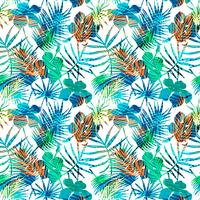 Naadloos exotisch patroon met tropische bladeren.