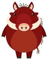 Wrattenzwijn met blij gezicht vector