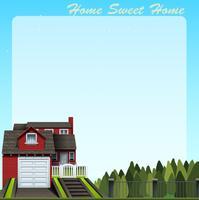 Grensontwerp met thuis zoet huis