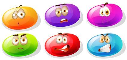 Felle kleurenslijm met negatieve emoties