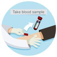 Gezondheidszorg Neem bloedmonster vector