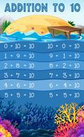 Een educatieve wiskundige toevoeging tot 10 vector