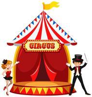 Een circus met podium