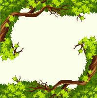 Een boomtakframe vector