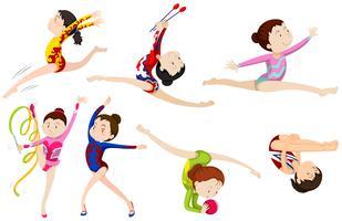 Verschillende soorten gymnastiek vector