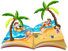 Een pop-upboek met zomervakantie
