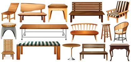 Set van meubels vector