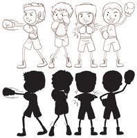 Set boxer karakter