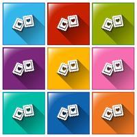 Postzegels vector