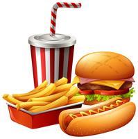 Maaltijd voor fast food vector