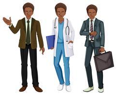 Een zwarte man draagt een uniform vector