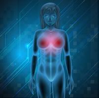 Menselijke borst vector