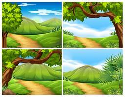Een set van mooi landschap vector