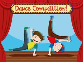 Een streetdance-uitvoering
