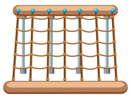 Groot touw klimtoestellen vector