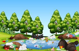 Nest in het natuurlandschap