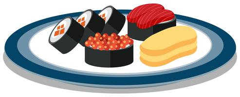 Een reeks Japanse Sushi