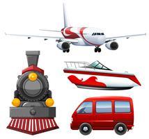 Vier soorten transporten vector