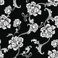 Stof naadloos patroon met barok ornament. vector