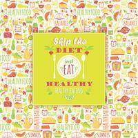 Gezond eten achtergrond met citaat.