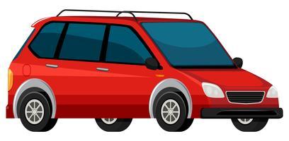 Een rode elektrische auto