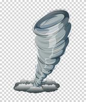 Grote tornado geïsoleerd grafisch