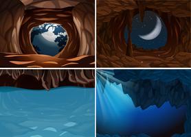 Set van binnen grot scene
