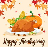 Happy Thanksgiving feest scène vector