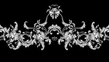 Sierrand, lijst. Barok patroon. Vector naadloos.