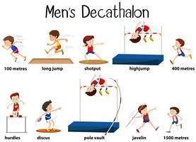 Ander soort mannen-decathalon