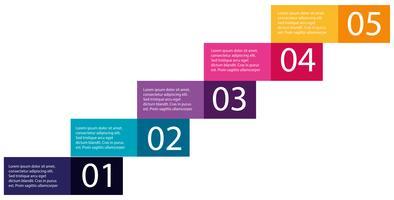 Stap van oplopende infographics