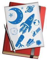 Boek- en wetenschapssymbolen vector