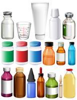 Set van medische containers vector