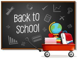 Terug naar school op blackboard vector