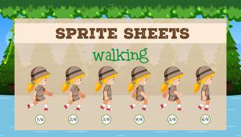 Sprite Sheet meisje lopen