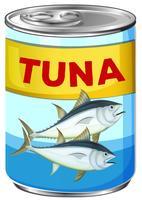 Kan van verse tonijn vector