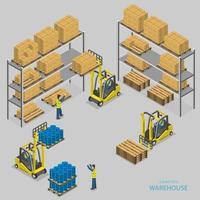 magazijn laden isometrische vectorillustratie. vector