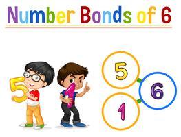 Nummer obligaties van zes