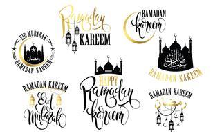 Ramadan Kareem. Set van Ramadan-logo's