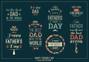De gelukkige Inzameling van het Vaderdagontwerp in Retro Stijl.